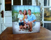 Reserved for Steffeni - Custom Wooden Photo Block, With Your Photos & Quote