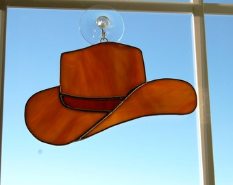 Stained Glass Cowboy Hat