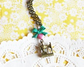 SALE- Little Seamstress- Sewing Machine Charm Necklace