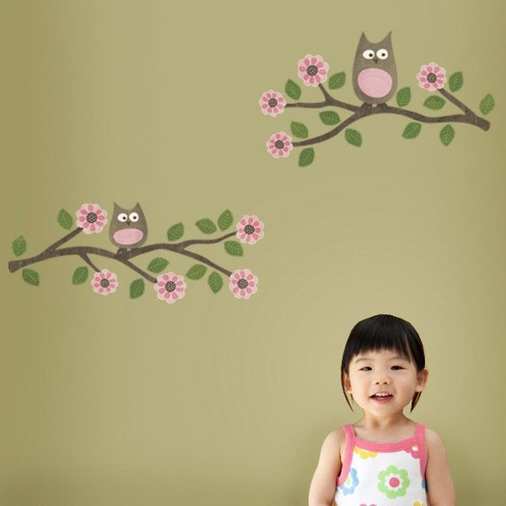 Whoo Stole My Heart - Restickable Fabric Wall Decal