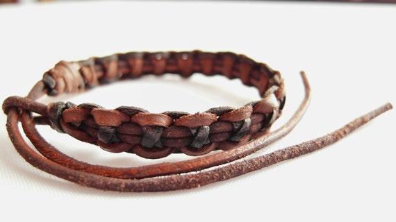 Criss-Cross bracelet in browns  (B167)