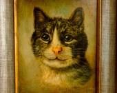 Cat Portrait Framed Print Reproduction Pet Decor