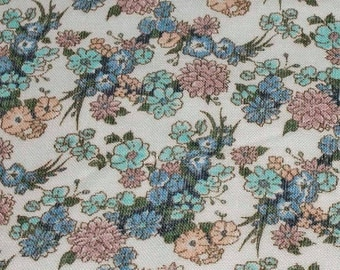 "Wool Blend Floral Small Print Dressmaking Fabric 60"" Wide - 3 Yards"