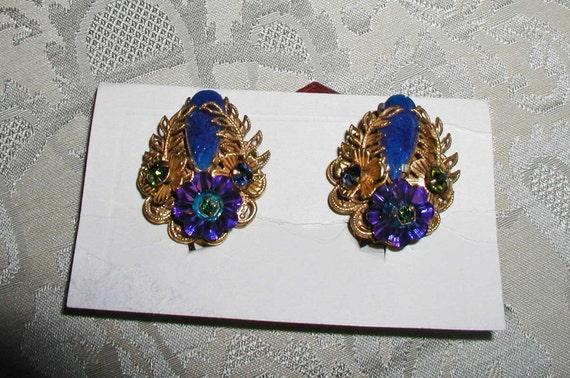 Reserved for Melynda: Amourelle Earrings by Frank Hess for Kramer