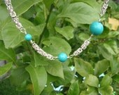 Mint Delight Byzantine Necklace