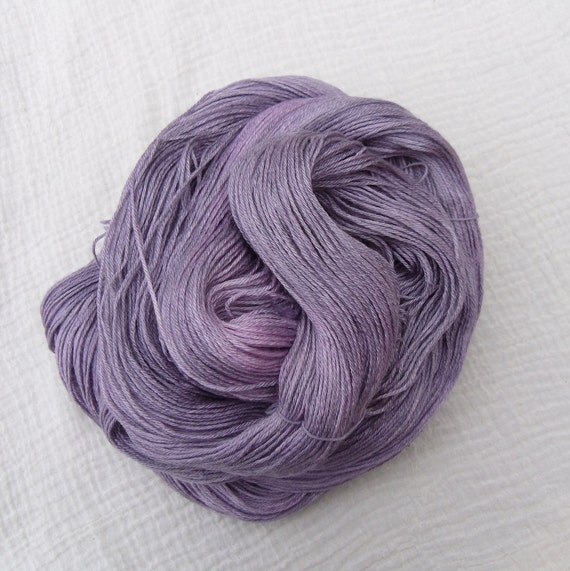 Hand Dyed BFL Silk Sock Yarn 100g - Moondust 4