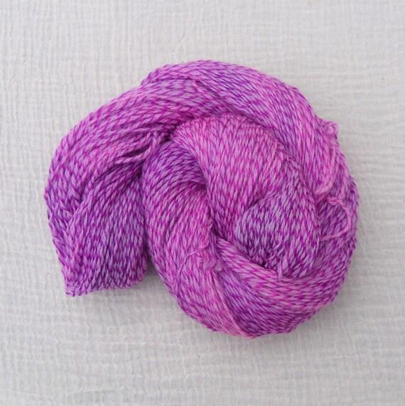 Variegated Merino Tweed Sock Yarn 100g - Barbie Girl