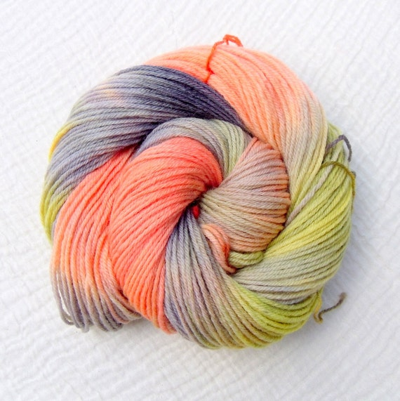 Hand Dyed BFL DK Yarn - Round the Campfire
