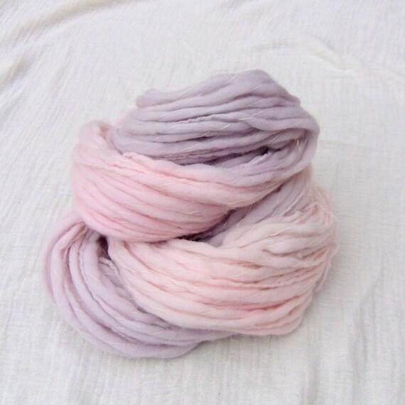 Hand Dyed BFL Chunky Flame Yarn 100g -Dusky Rose