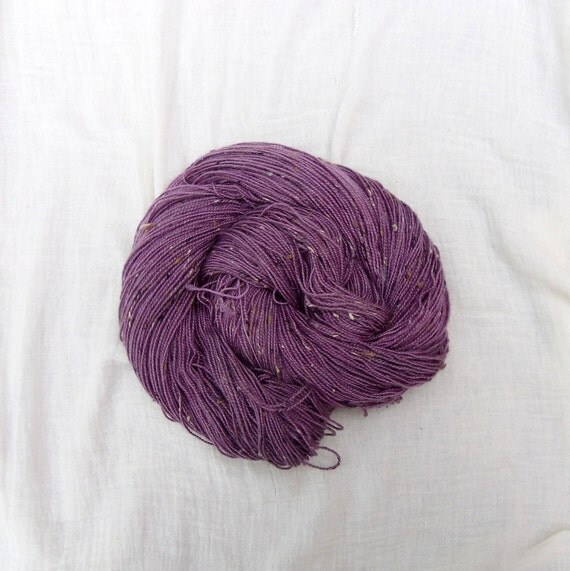 Hand Dyed BFL Donegal Sock Yarn 100g - Cassis