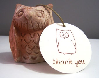 15 Owl Gift Tags . Set of 15 . 2 inch