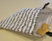 Reusable Snack Bag - Music Notes