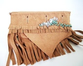 leather belt hip bag crystal wave