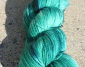 "Hand-dyed ""The Dragonmaster"" Lumina Superwash Merino Nylon Fingering 420 yards"