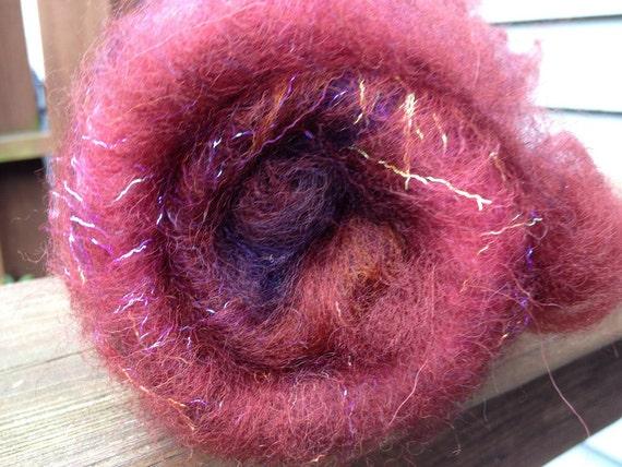 "Catacomb Spinning Batt ""Ribena"" 1.1 oz Exmoor wool"