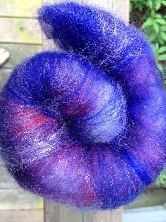 "Catacomb Spinning Batt ""Homu Homu"" 1.7 oz Merino and Babydoll Southdown wool"