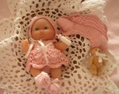 Sweet Katie Berenguer 5 inch doll Reborn Breast Cancer Baby