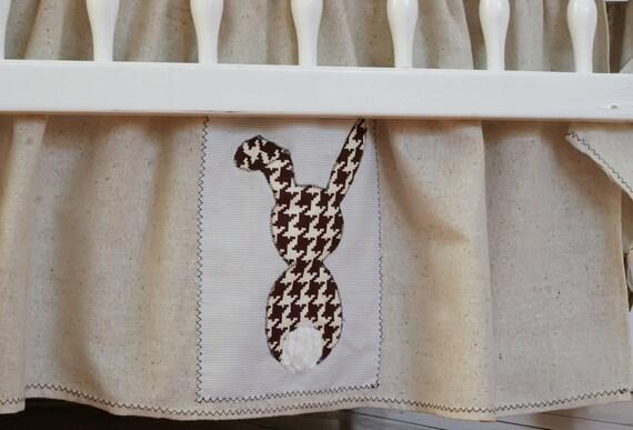 Houndstooth Bunny Crib Skirt