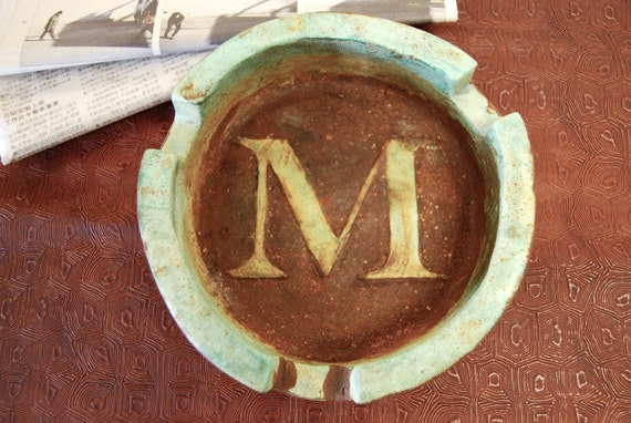 Perfect gift for HIM -Porcelain Cigar Ashtray CUSTOM MADE Monogramed