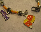 HALLOWEEN SALE - Charm Bracelet & Earring Set