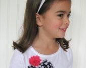 Matching Shirt and Headband Black White Hot Pink Toddler