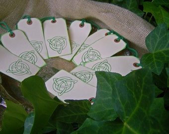 Rustic Celtic Knot Wedding Tags