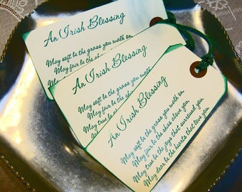 CELTIC IRISH Blessing Rustic  WeDDING TAGS or BooKMark Favors by The Celtic Heart