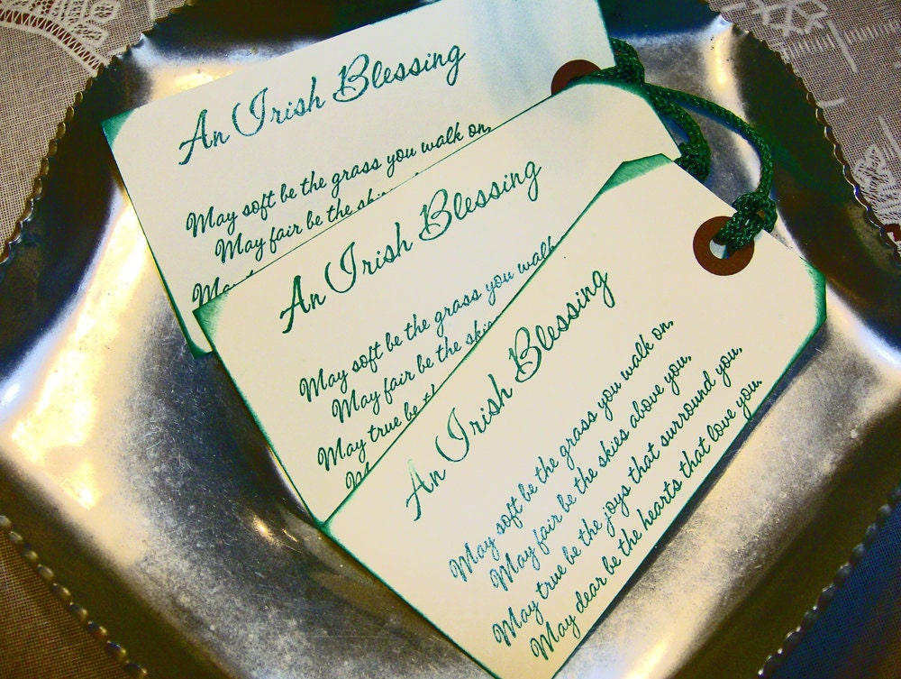 CELTIC IRISH Blessing Rustic WeDDING TAGS Or By TheCelticHeart