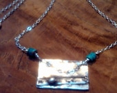 Cellar  Door - Pure silver and turquoise artisan necklace