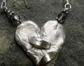 Duct Tape Heart IX- Pure Silver Artisan Original
