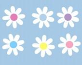 Daisy Flower Children Wall Decal Sticker