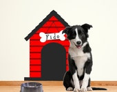 Dog House Decal Wall Decal Personalized Puppy