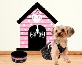 Dog House Wall Decal Sticker Medium