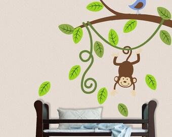Monkey Branch Wall Decal Nursery Decor Vinyl Sticker
