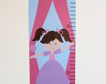Growth Chart Children Canvas Growth Chart Ballerina Ballet