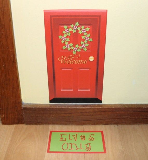 Elf Door Christmas Santa Entrance Pixie