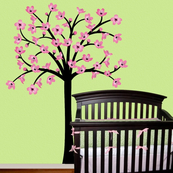 Cherry Blossom Tree Wall Decal By Onehipstickerchic On Etsy