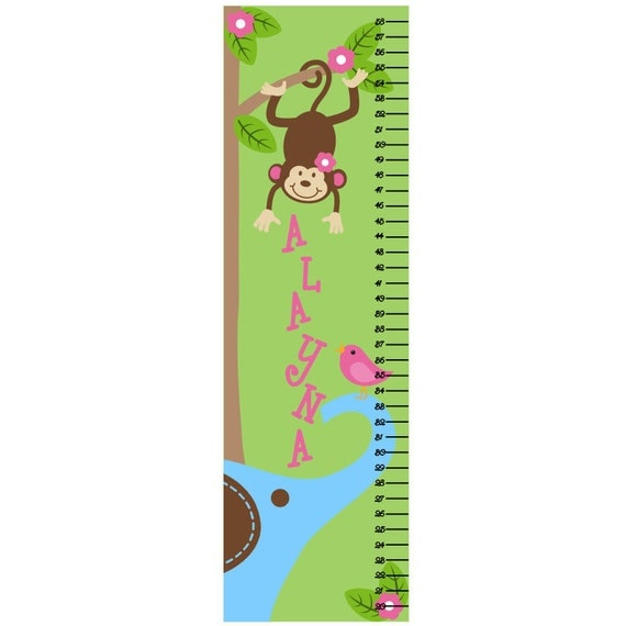 Growth Chart Children Canvas Growth Chart Monkey Tree
