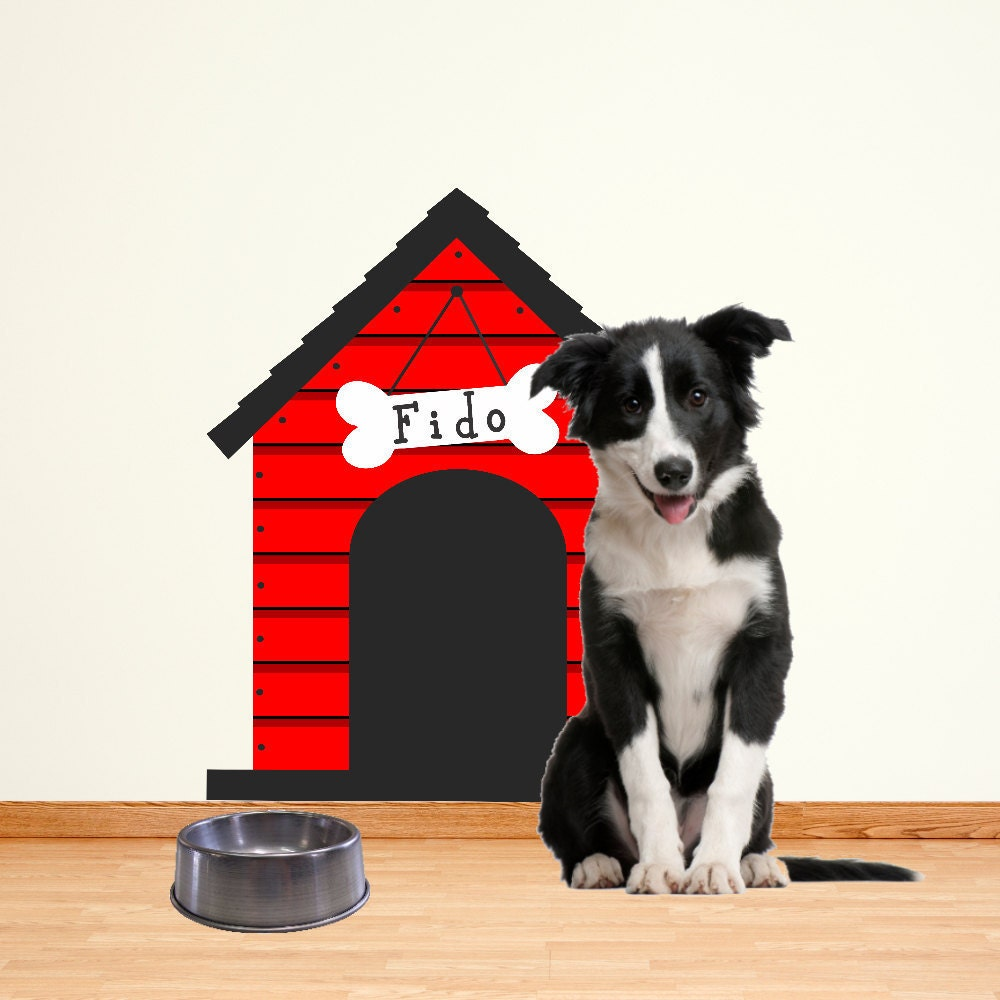 Dog House Wall Decal Sticker Large - House wall decals