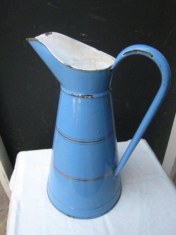 Vintage French Blue Metal Water - 88.2KB