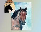Tashunka Band Stallion Sand Wash Basin HMA  MADC Painting 21