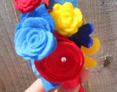 bespoke grooms buttonhole, boutonniere, lapel buttonhole, felt flowers custom handmade personalisation free shipping