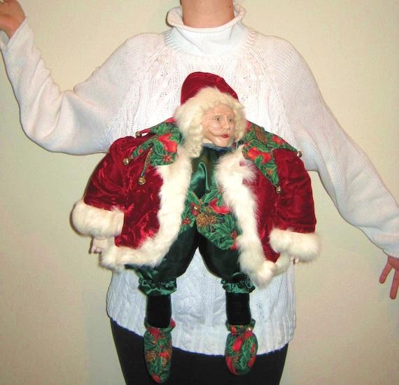 Ugly Christmas Sweater - Creepy Santa - Medium