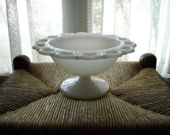 Vintage Milkglass Candy Dish