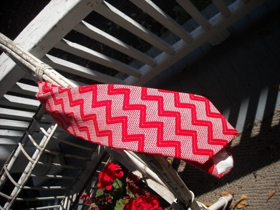 Reserved for Joseph /// Red Zigzag Tie by Veradino