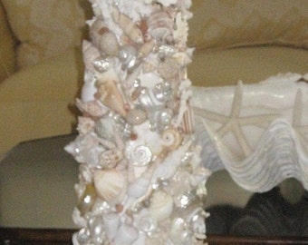 Gorgeous Seashell Candleholder 48inches Tall