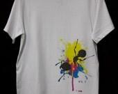 Splattered Ant 100% Cotton White Tshirt Print