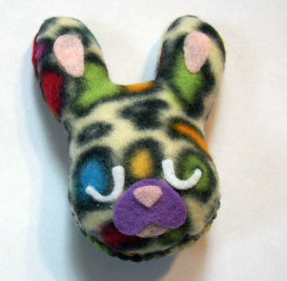 "Pocket Bunny Plush Friend - ""Sweet Dreams, Wild Thang"" (1)"