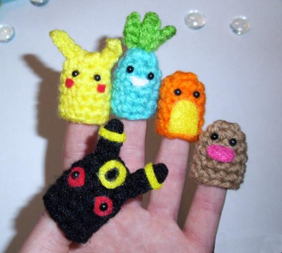 Pokemon Finger Puppets Set of 5 RESERVED