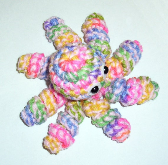 Candy Rainbow Octopus Plushie